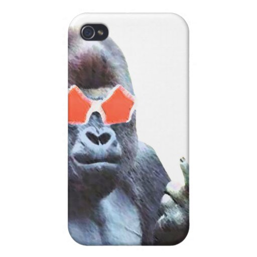Gorilla middlefinger Street Art Iphone 4 & 4S case Covers For iPhone 4