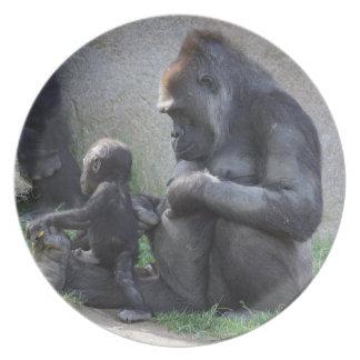 Gorilla Party Plates