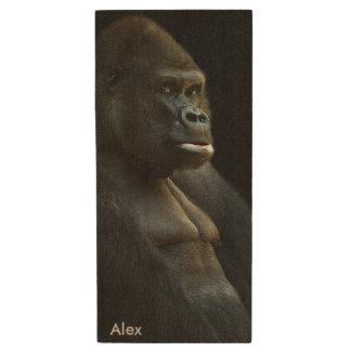 Gorilla Photo Wood USB Flash Drive