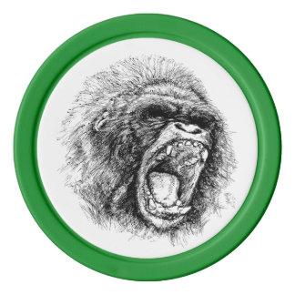 Gorilla Poker Chips
