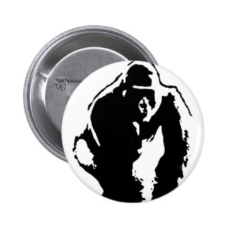 Gorilla Pop Art 6 Cm Round Badge