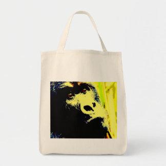 Gorilla Pop Art Grocery Tote Bag