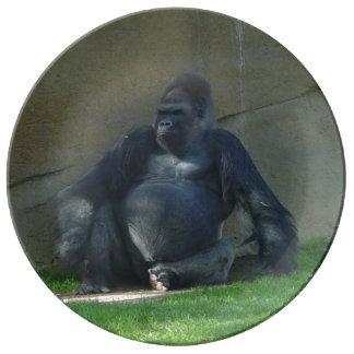 Gorilla Porcelain Plates