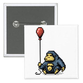Gorilla Red Balloon Shade Pixel Art Button