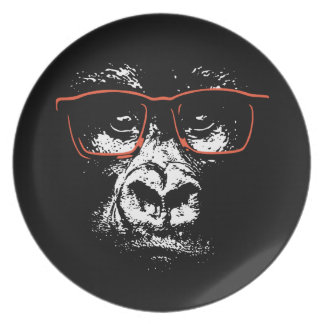 Gorilla Red Glasses Plates