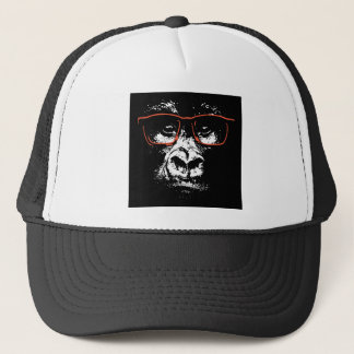 Gorilla Red Glasses Trucker Hat