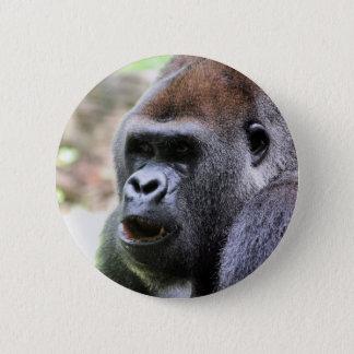 Gorilla say 6 cm round badge
