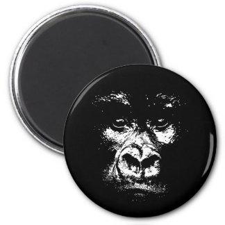 Gorilla Shadows 6 Cm Round Magnet