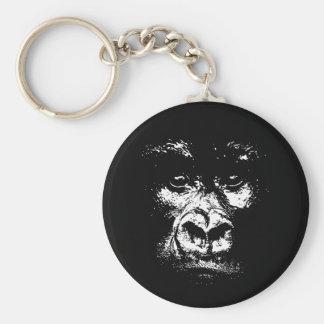 Gorilla Shadows Basic Round Button Key Ring