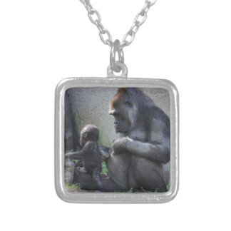 Gorilla Silver Plated Necklace