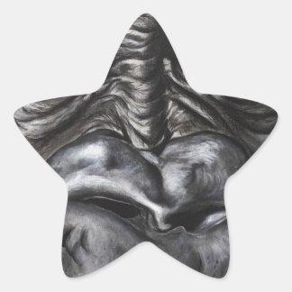Gorilla Star Sticker