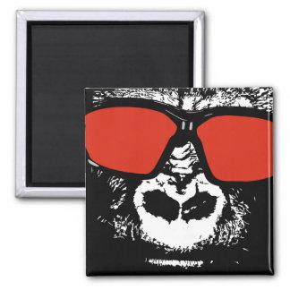 Gorilla Sunglasses Pop Art Square Fridge Magnet