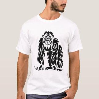 Gorilla Tattoo Style Design Black White T-Shirt