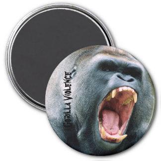 Gorilla Violence 7.5 Cm Round Magnet