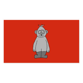Gorilla Wearing Boots. Business Card Templates