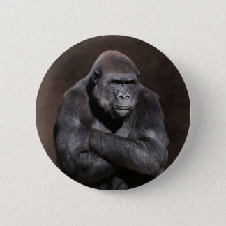 Gorilla with Attitude 6 Cm Round Badge