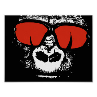 Gorilla with glasses poster