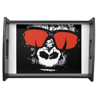 Gorilla with glasses serving tray