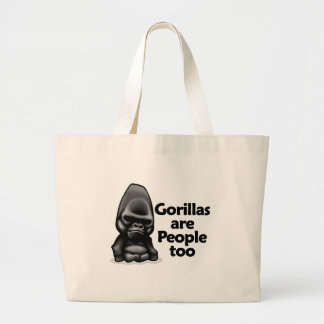 Gorillas are People too Canvas Bag