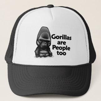Gorillas are People too Trucker Hat