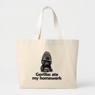 Gorillas ate my homework tote bags