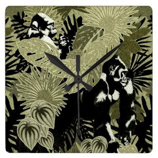 Gorillas In The Rain Forest #4 Wall Clocks