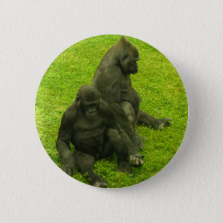 Gorillas of Africa,primates, photography 6 Cm Round Badge