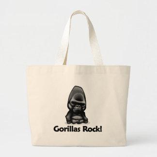 Gorillas Rock! Tote Bags