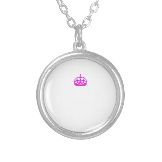 Gosh being a princess is exhausting silver plated necklace