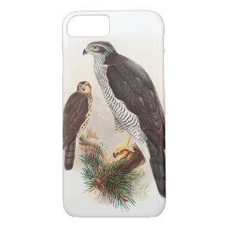 Goshawk John Gould Birds of Great Britain Wildlife iPhone 7 Case