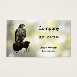 Goshawk on Glove Business Card