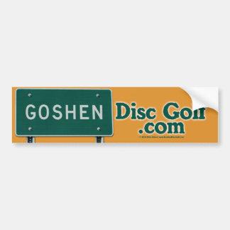 Goshen Disc Golf Bumper Sticker