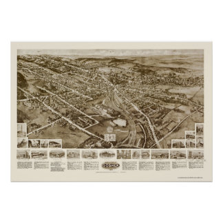 Goshen, NY Panoramic Map - 1922 Poster