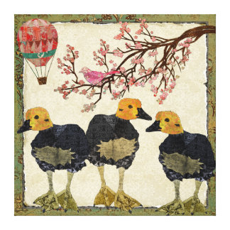 Goslings Cherry Blossom Canvas Stretched Canvas Print