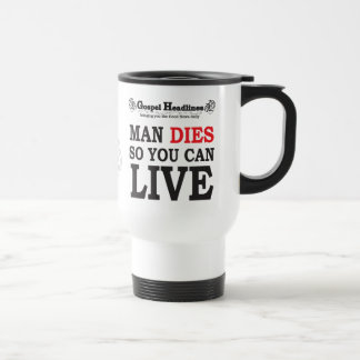 Gospel Headlines Christian travel mug