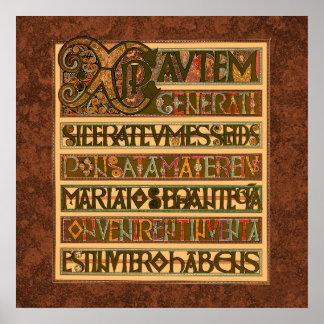 Gospel History of St. Matthew 8th Century Poster
