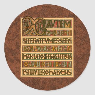 Gospel History of St. Matthew 8th Century Round Sticker