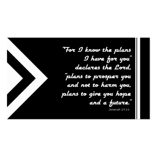 Gospel Tract Plan of Salvation Black and White Business Cards