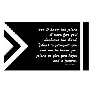 Gospel Tract Plan of Salvation Black and White Pack Of Standard Business Cards