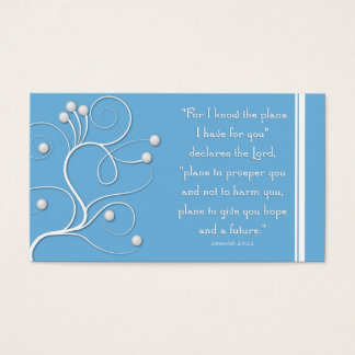 Gospel Tract Plan of Salvation Blue Swirl Business Card
