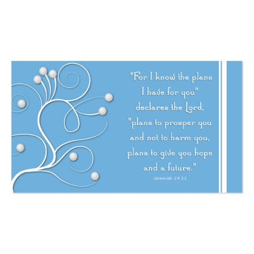 Gospel Tract Plan of Salvation Blue Swirl Business Cards