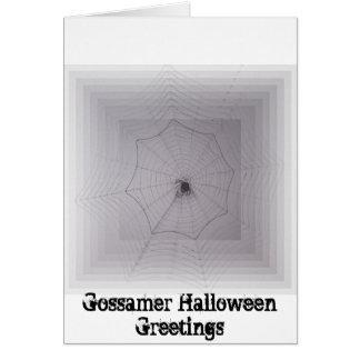 Gossamer Halloween Greetings Greeting Card