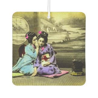 Gossip Geisha Girls of Old Japan Vintage Japanese Car Air Freshener