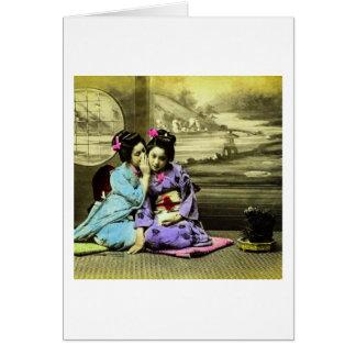 Gossip Geisha Girls of Old Japan Vintage Japanese Card