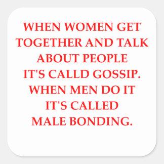 gossip square sticker