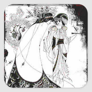 Gossiping in Their Fancy Dresses Square Sticker