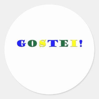 Gostei !!! round sticker