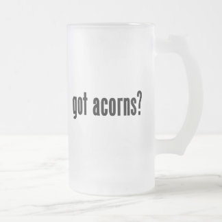 got acorns? frosted glass beer mug