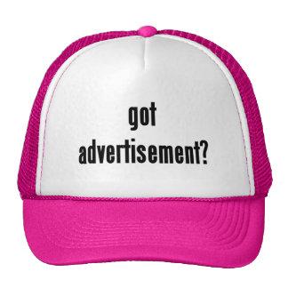 got advertisement? mesh hats