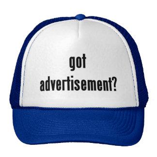 got advertisement? trucker hats
